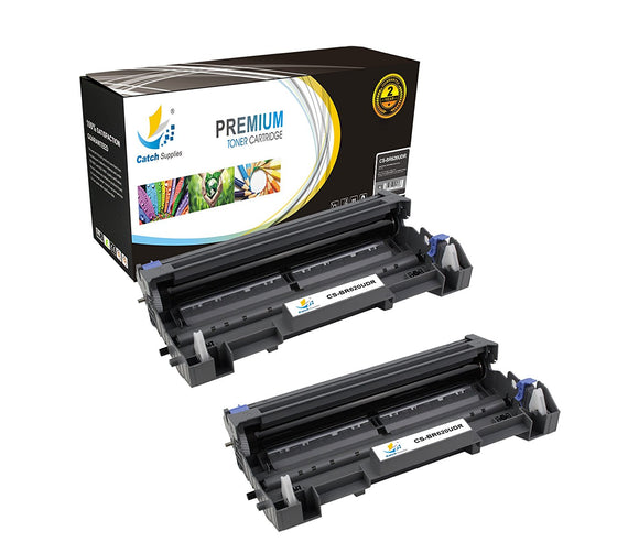 Catch Supplies Replacement Brother DR-620 Compatible Drum Unit Laser Printer Toner Cartridges - Two Pack