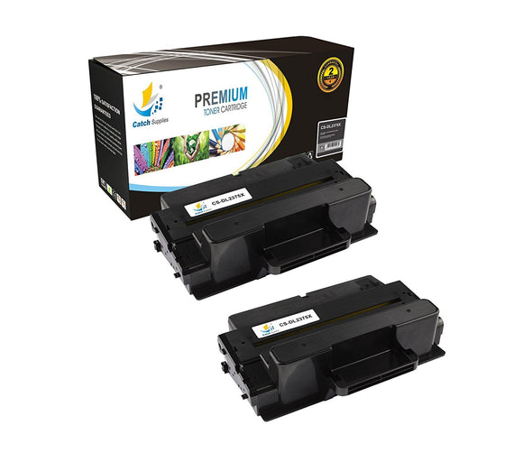 Catch Supplies Replacement Dell 593-BBBJ Standard Yield Laser Printer Toner Cartridges - Two Pack