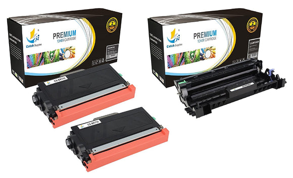 Catch Supplies Replacement Combo pack of 2 TN750 Toner Cartridges and 1 DR720 Drum Unit