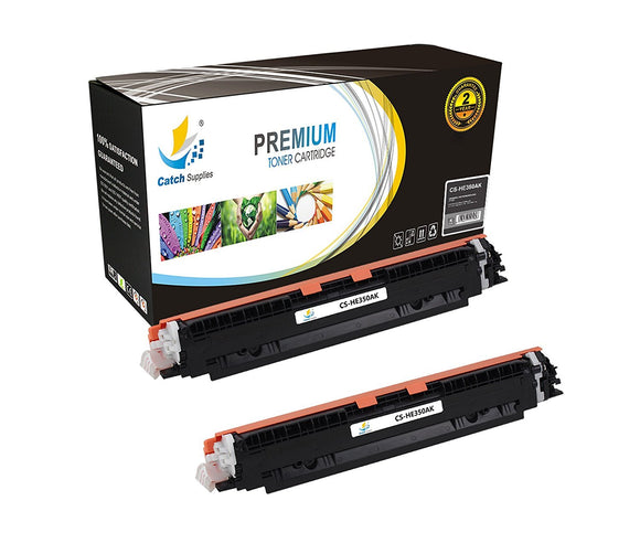 Catch Supplies Replacement CF350A – 130A Black Toner Cartridge 2 Pack Set