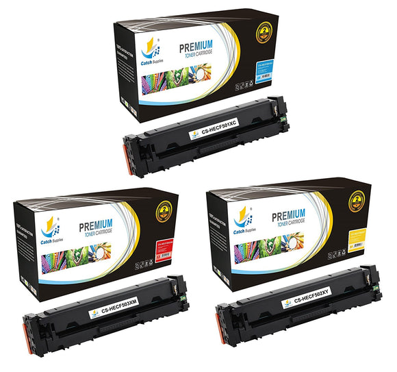 Catch Supplies Replacement HP HP-202X Standard Yield Toner Cartridge - 3 Pack