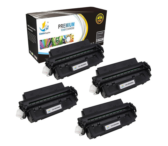 Catch Supplies Replacement C4096A Black Toner Cartridge 4 Pack