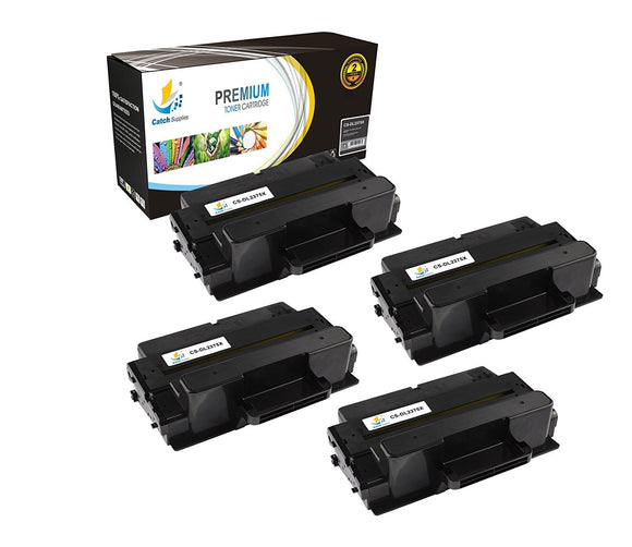 Catch Supplies Replacement Dell 593-BBBJ Standard Yield Laser Printer Toner Cartridges - Four Pack