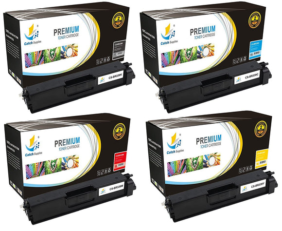 Catch Supplies Replacement TN339 Toner Cartridge 4 Pack Set
