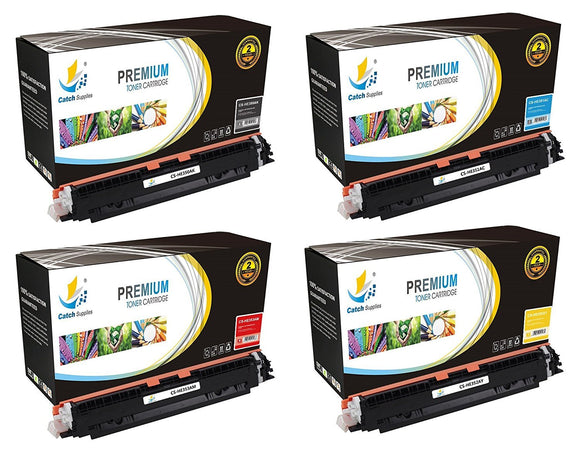 Catch Supplies Replacement 130A Toner Cartridge 4PK Set