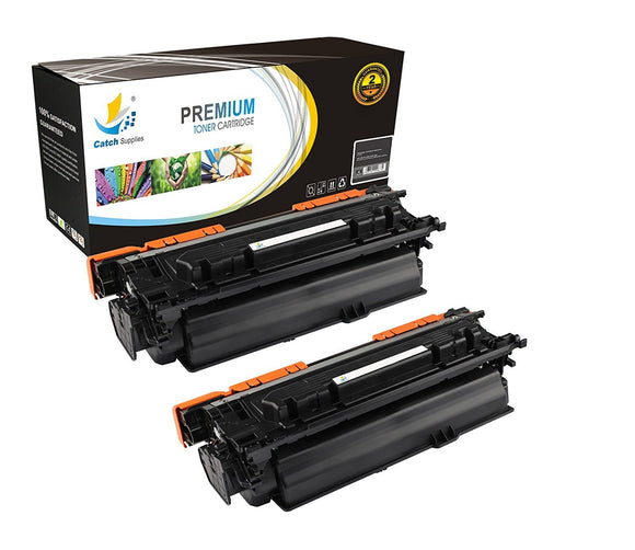 Catch Supplies Replacement CF320A – 652A Black Toner Cartridge 2 Pack Set