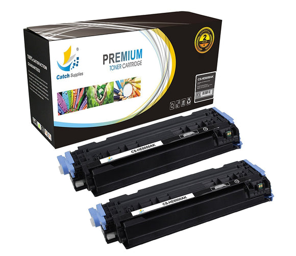 Catch Supplies Replacement Q6000A – 124A Black Toner Cartridge 2 Pack Set