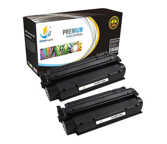 Catch Supplies Replacement HP C7115X High Yield Black Toner Cartridge Laser Printer Toner Cartridges - Two Pack