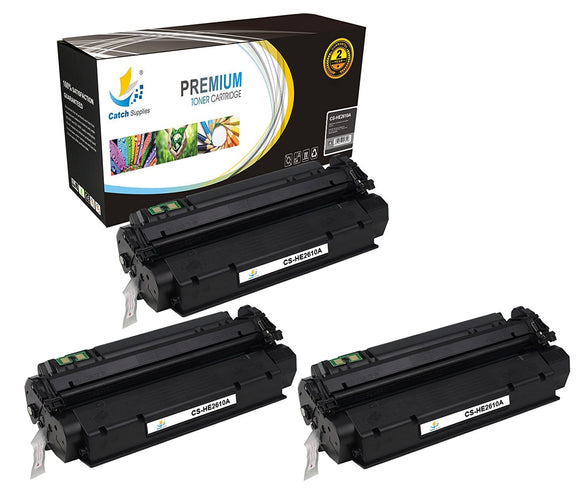 Catch Supplies Replacement HP Q2610A Standard Yield Laser Printer Toner Cartridges - Three Pack