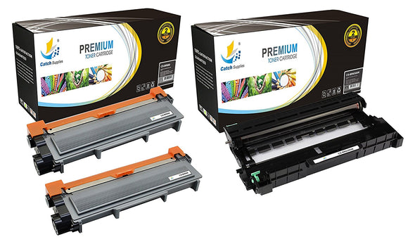 Catch Supplies Replacement Combo pack of 2 TN660 Toner Cartridges and 1 DR630 Drum Unit