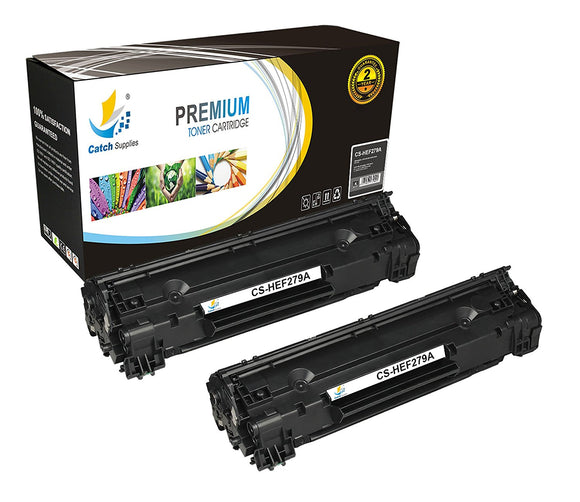 Catch Supplies Replacement HP CF279A Standard Yield Black Toner Cartridge Laser Printer Toner Cartridges - Two Pack