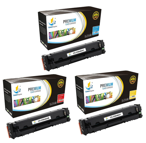 Catch Supplies Replacement Canon 046C, 046M , 046Y Standard Yield Toner Cartridge - 3 Pack