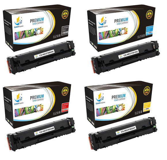 Catch Supplies Replacement HP HP-202A Standard Yield Toner Cartridge - 4 Pack