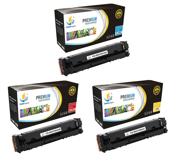 Catch Supplies Replacement HP HP-202A Standard Yield Toner Cartridge - 3 Pack
