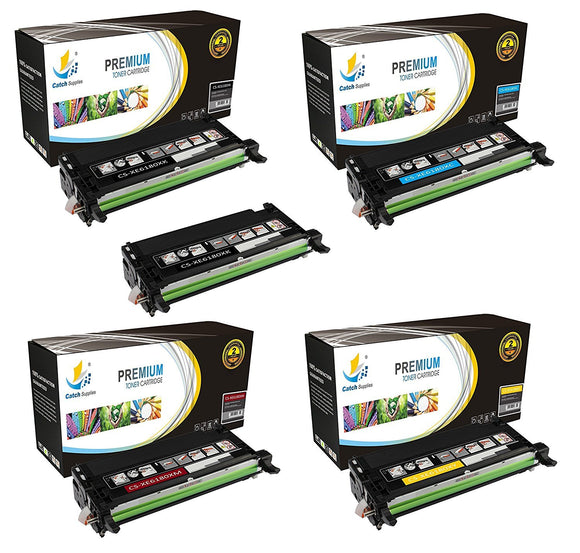 Catch Supplies Replacement 6180 Toner Cartridge 5 Pack Set