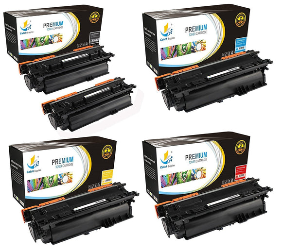 Catch Supplies Replacement HP CF330X,CF331A,CF332A,CF333A High Yield Toner Cartridges Laser Printer Toner Cartridges - Five Pack
