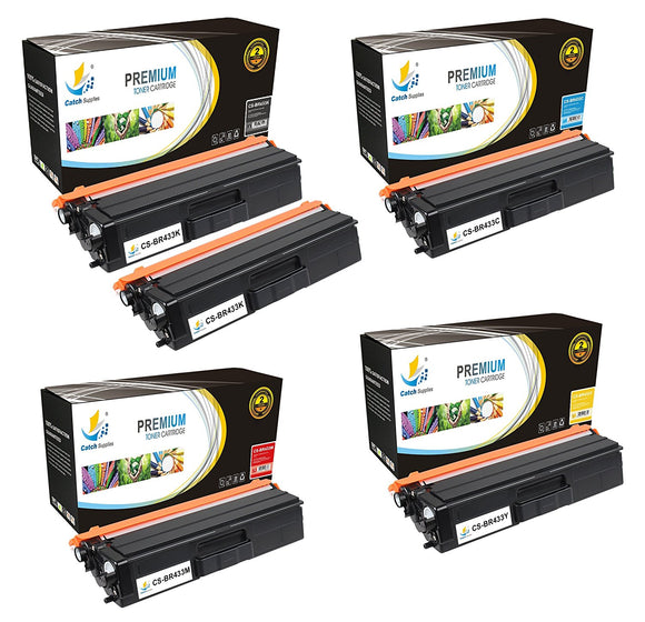 Catch Supplies Replacement TN433 Toner Cartridge 5 Pack Set