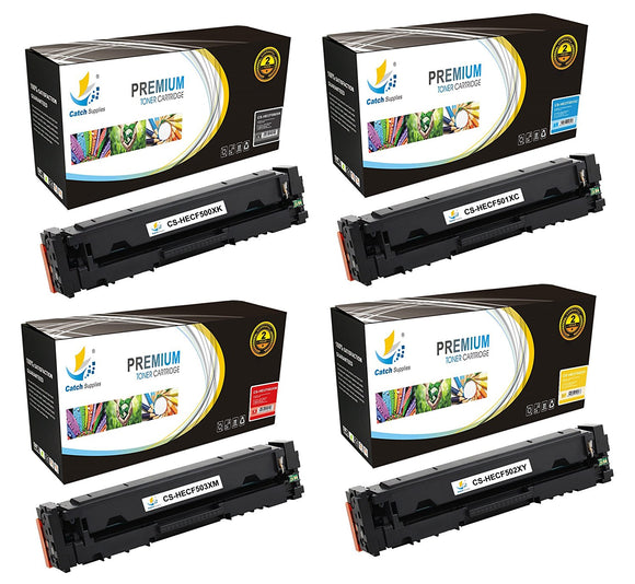 Catch Supplies Replacement HP HP-202X CF500X Standard Yield Toner Cartridge - 4 Pack
