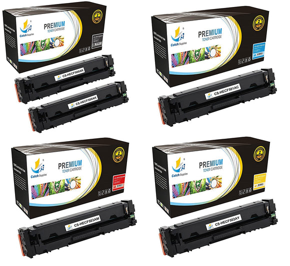Catch Supplies Replacement HP HP-202A Standard Yield Toner Cartridge - 5 Pack