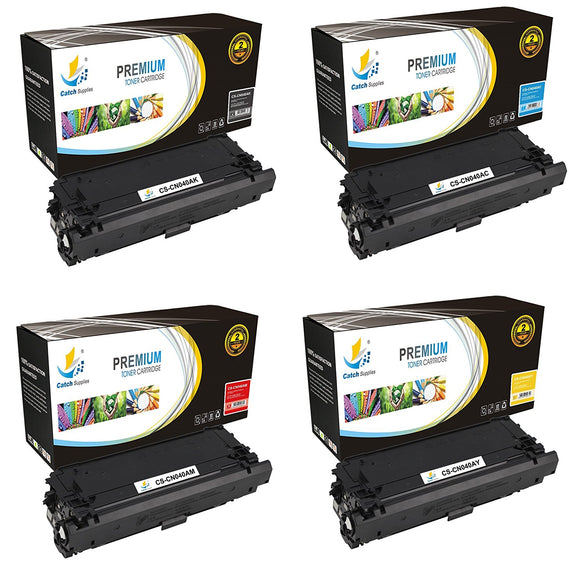 Catch Supplies Replacement Canon 0461C001, 0459C001, 0457C001, 0455C001 Standard Yield Toner Cartridge - 4 Pack