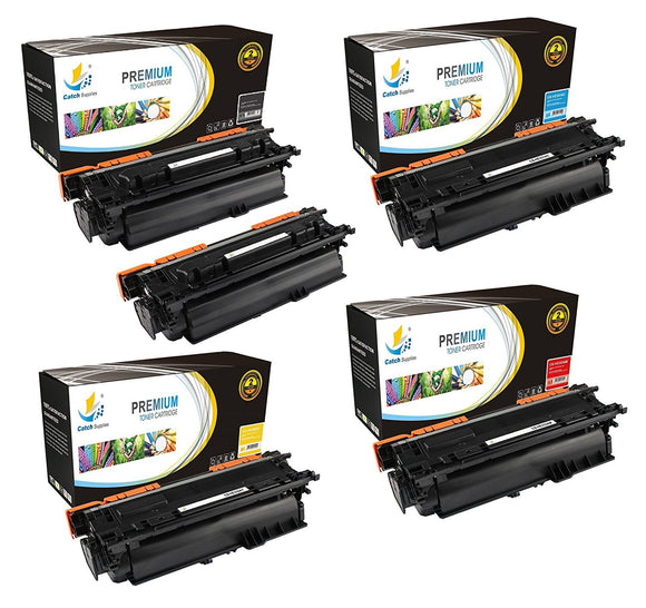 Catch Supplies Replacement HP CF320A,CF331A,CF332A,CF333A Standard Yield Laser Printer Toner Cartridges - Five Pack