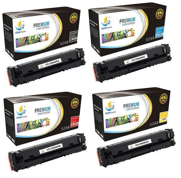 Catch Supplies Replacement Canon 046K, 046C, 046M , 046Y Standard Yield Toner Cartridge - 4 Pack