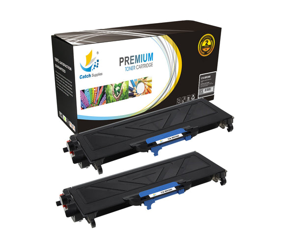 Catch Supplies Replacement Brother TN-360 Standard Yield Laser Printer Toner Cartridges - Two Pack