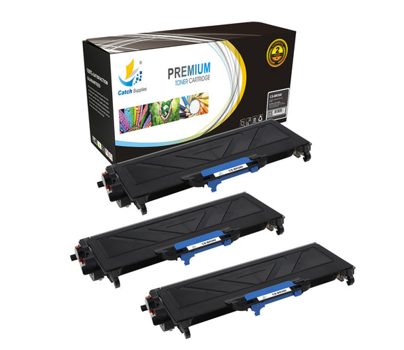 Catch Supplies Replacement Brother TN-360 Standard Yield Laser Printer Toner Cartridges - Three Pack