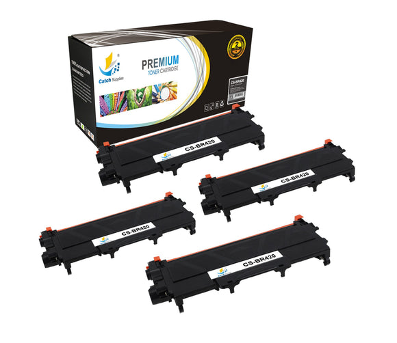 Catch Supplies Replacement Brother TN-420 Standard Yield Laser Printer Toner Cartridges - Four Pack