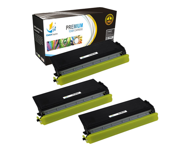 Catch Supplies Replacement Brother TN-460 Standard Yield Laser Printer Toner Cartridges - Three Pack