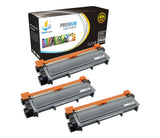 Catch Supplies Replacement Brother TN-660 Standard Yield Laser Printer Toner Cartridges - Three Pack