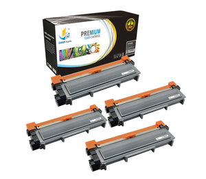 Catch Supplies Replacement Brother TN-660 Standard Yield Laser Printer Toner Cartridges - Four Pack