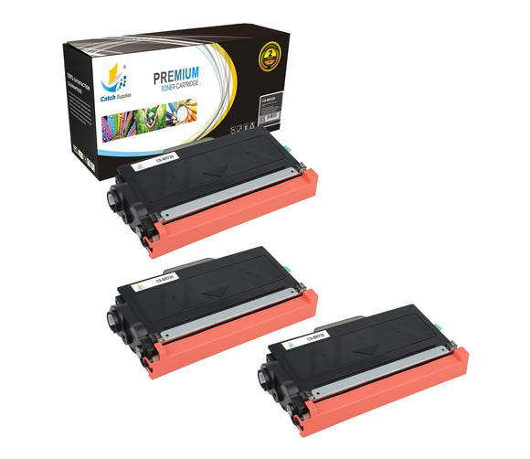 Catch Supplies Replacement Brother TN-720 Standard Yield Laser Printer Toner Cartridges - Three Pack
