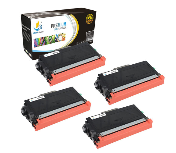 Catch Supplies Replacement Brother TN-720 Standard Yield Laser Printer Toner Cartridges - Four Pack