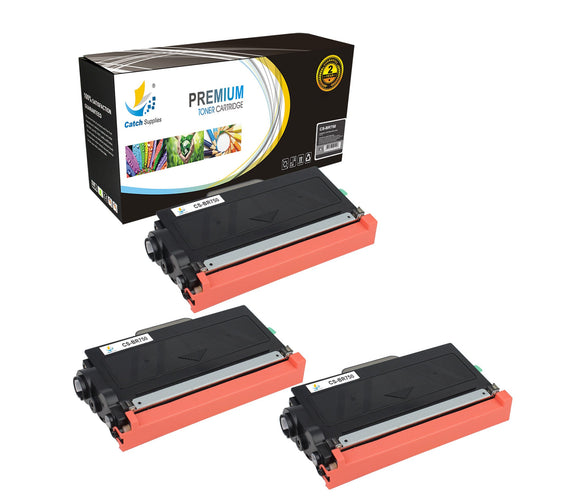 Catch Supplies Replacement Brother TN-750 Standard Yield Laser Printer Toner Cartridges - Three Pack