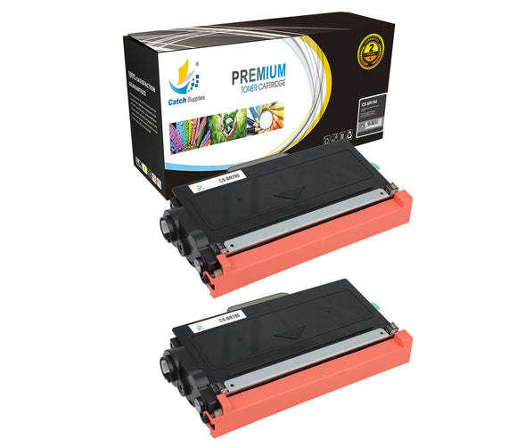Catch Supplies Replacement Brother TN-780 Standard Yield Laser Printer Toner Cartridges - Two Pack