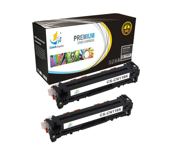 Catch Supplies Replacement Canon 1980B001AA Standard Yield Laser Printer Toner Cartridges - Two Pack