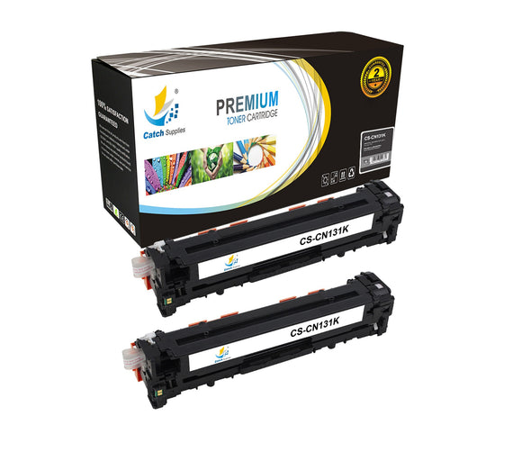 Catch Supplies Replacement Canon 6273B001AA Standard Yield Laser Printer Toner Cartridges - Two Pack