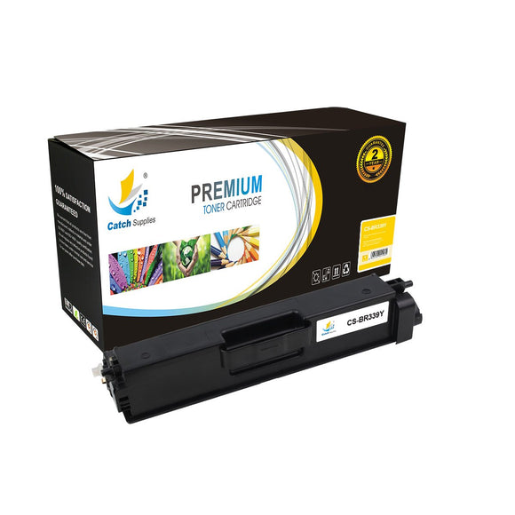 Catch Supplies Replacement TN339Y Yellow Toner Cartridge