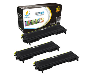 Catch Supplies Replacement Brother TN-350 Standard Yield Laser Printer Toner Cartridges - Three Pack