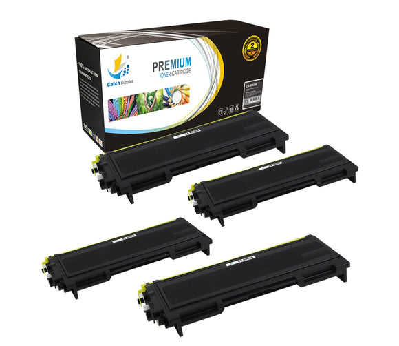 Catch Supplies Replacement Brother TN-350 Standard Yield Laser Printer Toner Cartridges - Four Pack