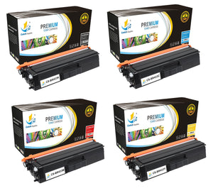 Catch Supplies Replacement Brother TN433K, TN433C, TN433M, TN433Y Standard Yield Laser Printer Toner Cartridges - Four Pack