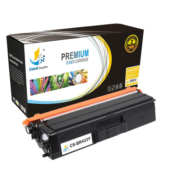 Catch Supplies Replacement Brother TN-433Y High Yield Toner Cartridge