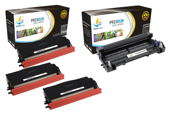 Catch Supplies Replacement Combo pack of 3 TN580 Toner Cartridges and 1 DR520 Drum Unit