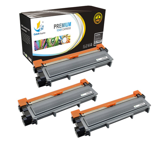 Catch Supplies Replacement Brother TN-630 Standard Yield Laser Printer Toner Cartridges - Three Pack