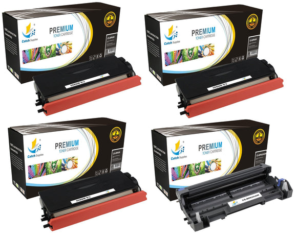 Catch Supplies Replacement Combo pack of 3 TN650 Toner Cartridges and 1 DR620 Drum Unit