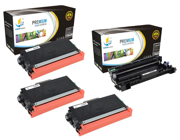 Catch Supplies Replacement Combo pack of 3 TN720 Toner Cartridges and 1 DR720 Drum Unit