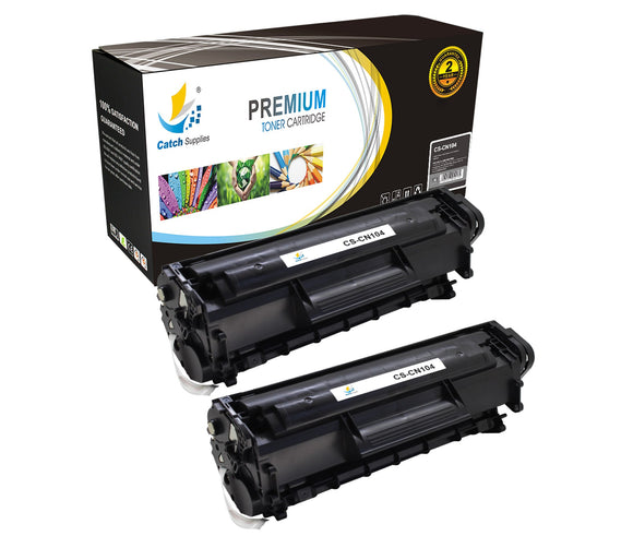 Catch Supplies Replacement 104 Black Toner Cartridge 2 Pack