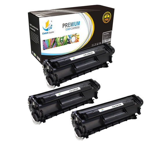 Catch Supplies Replacement Canon 0263B001AA Standard Yield Laser Printer Toner Cartridges - Three Pack