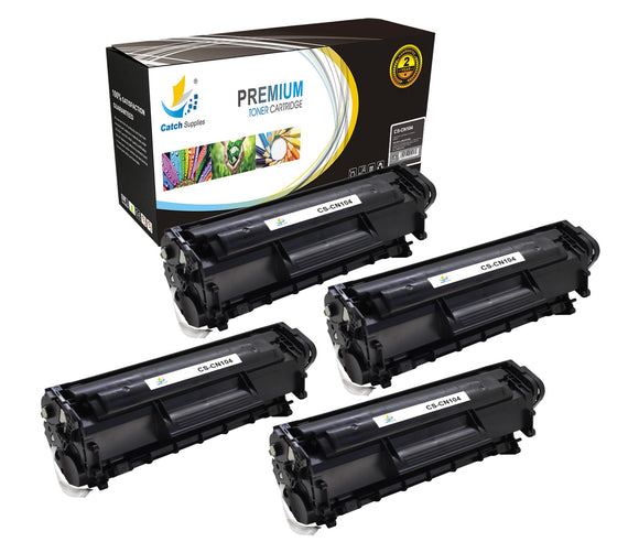 Catch Supplies Replacement 104 Black Toner Cartridge 4 Pack